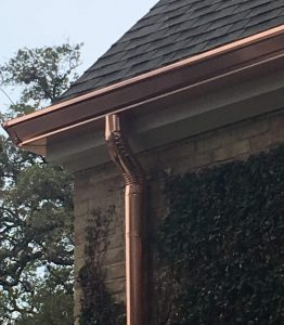 Copper Gutters in Austin TX